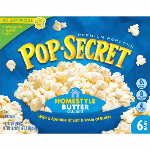 Pop Secret Homestyle Microwavable Popcorn Perspective: front
