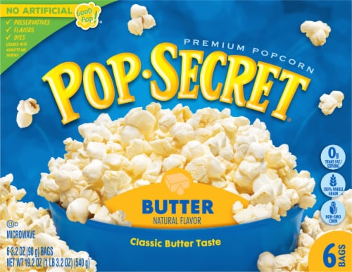Pop Secret Butter Popcorn Bags Perspective: front