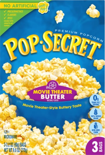 Pop Secret Movie Theater Butter Popcorn Bags Perspective: front
