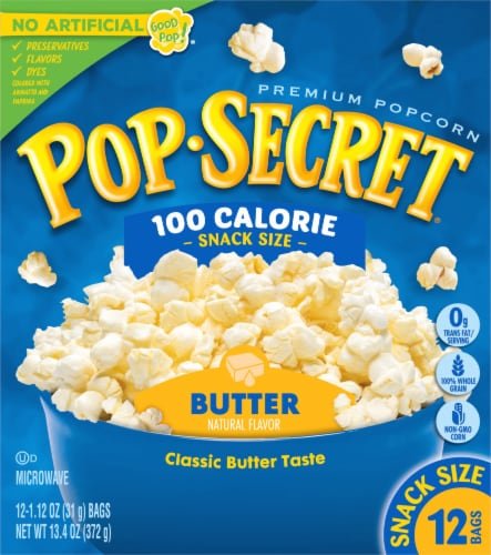 Pop Secret Butter Popcorn Snack Size Bags 12 Count Perspective: front