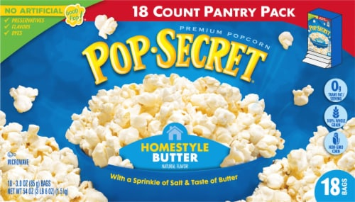 Pop Secret Homestyle Microwave Popcorn Perspective: front