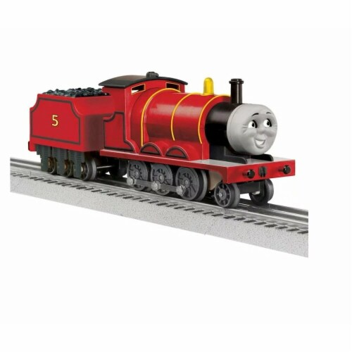 Lionel LNL1823021 O-27 James Engine Model Train with Remote & Bluetooth Perspective: front