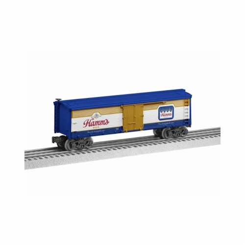 Lionel LNL1928280 O-27 Miller Coors Hamms Reefer Model Train Perspective: front
