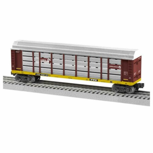Lionel LNL1928021 O-27 Autorack CR No.980139 Model Train Perspective: front