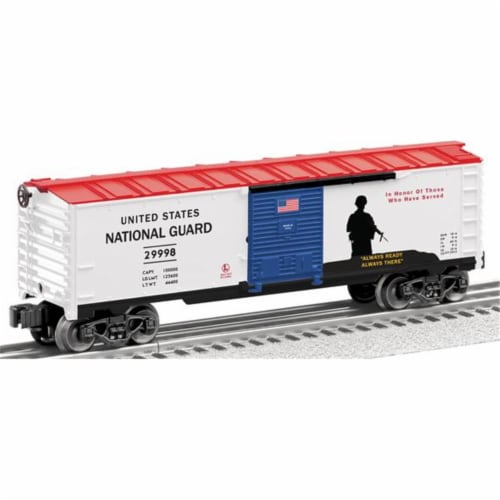 Lionel Us Made National Guard Boxcar Perspective: front