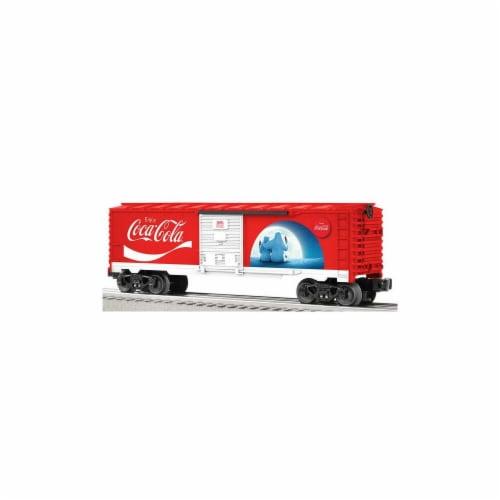 Lionel Coca-Cola '' Polar Bear'' Box Car Perspective: front