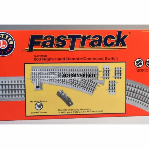 Lionel LNL81950 O60 Remote Command Control, Right Hand Switch Train Perspective: front