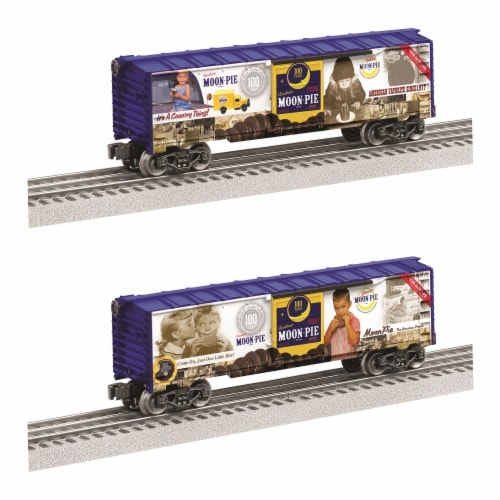 Lionel LIO83796 10.5 in. 100th Anniversary Moon Pie Boxcar Perspective: front