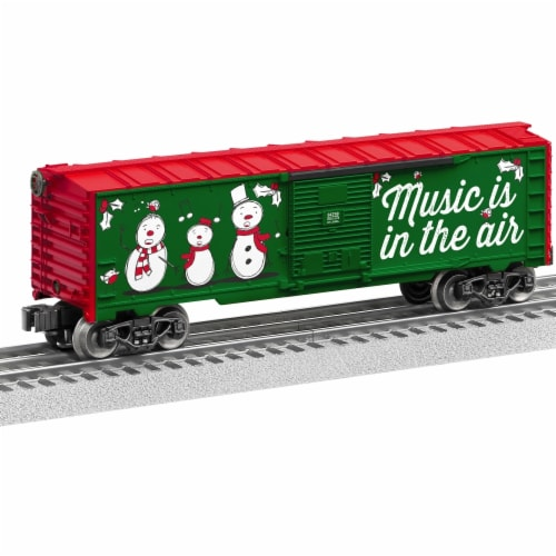Lionel LNL84748 O Scale Christmas Music No.18 Box Car Perspective: front