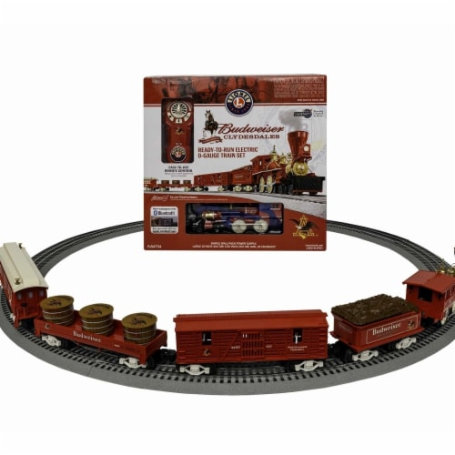 Lionel LNL84754 O Scale Anheuser Busch Clydesdale LionChief Set with Bluetooth Perspective: front