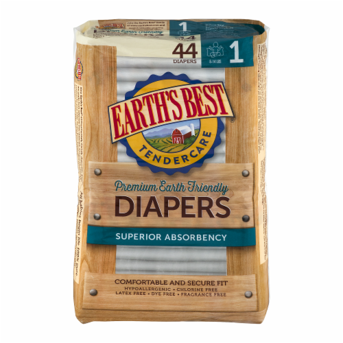 Earth's Best Tender Care Premium Earth Friendly Diapers Perspective: front