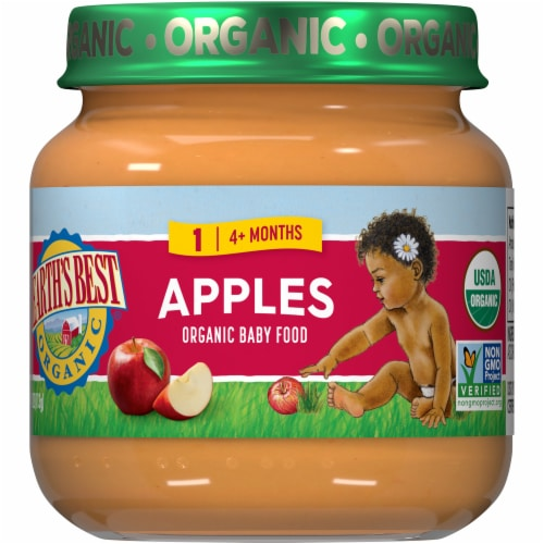 Earth's Best Organic Apples Stage 2 Baby Food Perspective: front