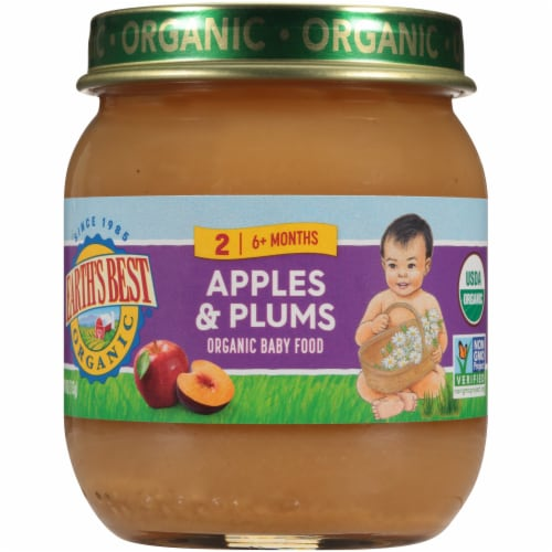 Earth's Best Organic Apples & Plums Stage 2 Baby Food Perspective: front