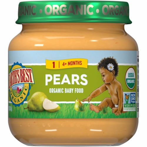 Earth's Best Organic Pears Stage 2 Baby Food Perspective: front