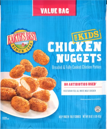 Earth's Best Kids' Baked Chicken Nuggets Perspective: front