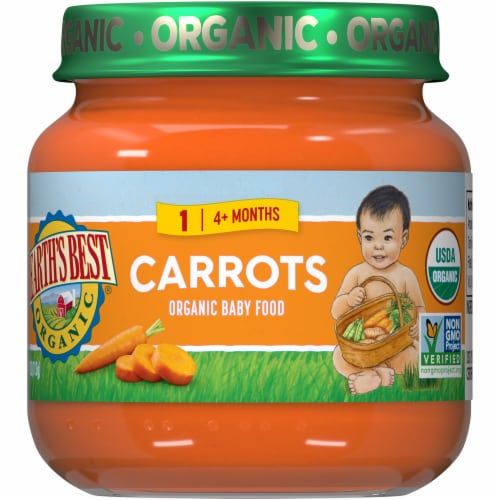 Earth's Best Organic Carrots Stage 2 Baby Food Perspective: front