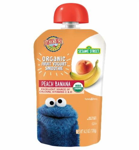 Earth's Best Organic® Sesame Street® Peach Banana Fruit Yogurt Smoothie Perspective: front