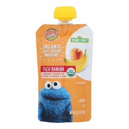 Earth's Best Sesame Street Organic Peach Banana Fruit Yogurt Smoothie Perspective: front