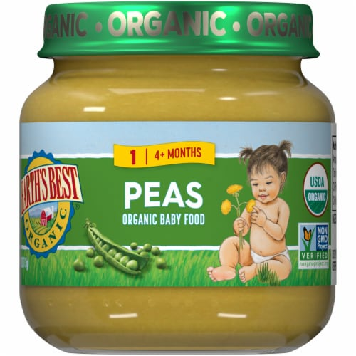 Earth's Best Organic Peas Stage 2 Baby Food Perspective: front