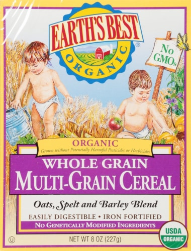 Earth's Best Organic Multi-Grain Baby Cereal Perspective: front