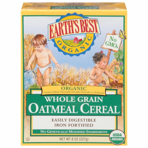 Earth's Best Whole Grain Oatmeal Cereal Perspective: front