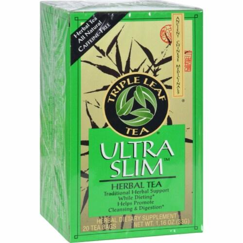 Triple Leaf Tea  Ultra Slim Tea Decaffeinated Perspective: front