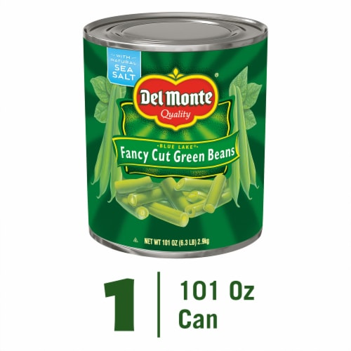 Del Monte Blue Lake Fancy Cut Green Beans Perspective: front