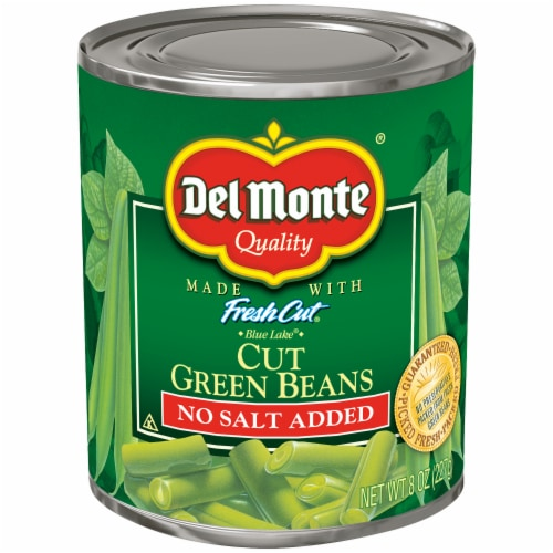 Del Monte Blue Lake No Salt Added Fresh Cut Green Beans Perspective: front