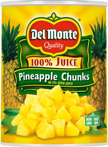 Del Monte Pineapple Chunks Perspective: front