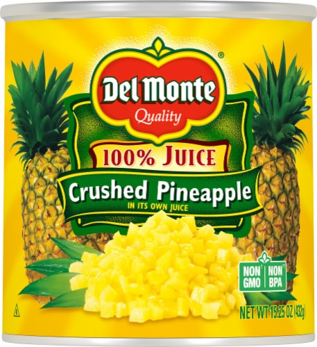 Del Monte Crushed Pineapple Perspective: front