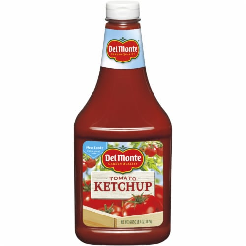 Del Monte Tomato Ketchup Squeeze Bottle Perspective: front