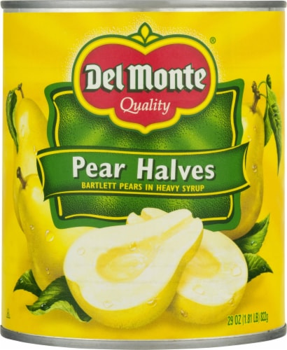 Del Monte Pear Halves in Heavy Syrup Perspective: front