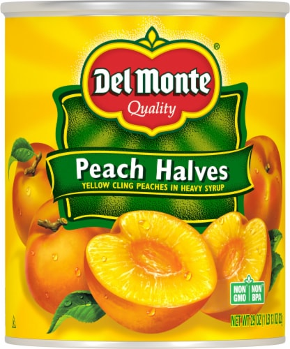 Del Monte Yellow Cling Peach Halves in Heavy Syrup Perspective: front