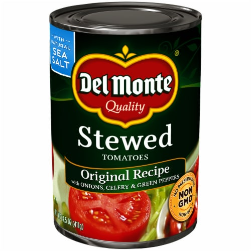 Del Monte Original Recipe Stewed Tomatoes Perspective: front
