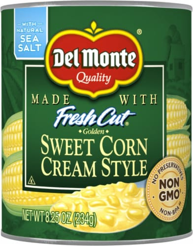 Del Monte Fresh Cut Cream Style Sweet Corn with Natural Sea Salt Perspective: front