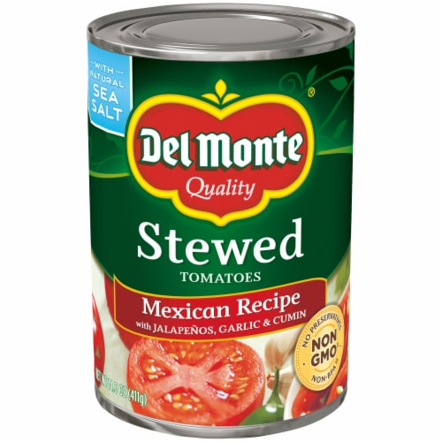 Del Monte Mexican Recipe Stewed Tomatoes Perspective: front