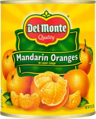 Del Monte Mandarin Oranges in Light Syrup Perspective: front