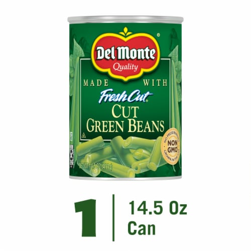 Del Monte Fresh Cut Cut Green Beans with Natural Sea Salt Perspective: front