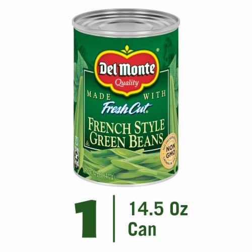 Del Monte Fresh Cut French Style Green Beans with Natural Sea Salt Perspective: front