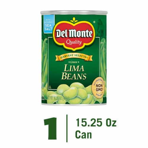 Del Monte Harvest Selects Fresh Cut Lima Beans Perspective: front