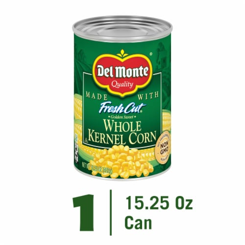 Del Monte Fresh Cut Golden Sweet Whole Kernel Corn with Natural Sea Salt Perspective: front