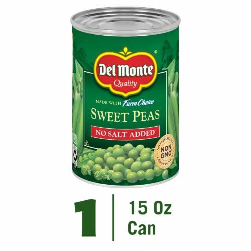 Del Monte No Salt Added Sweet Peas - Perspective: front