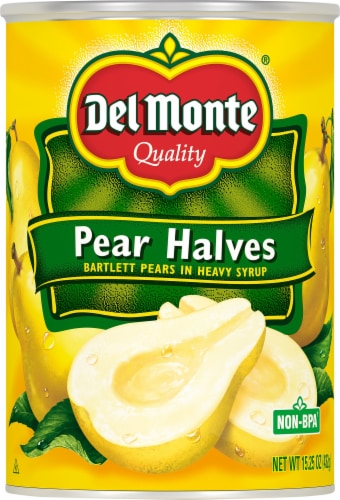 Del Monte® Pear Halves in Heavy Syrup Perspective: front
