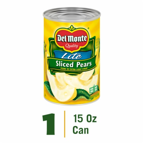Del Monte Lite Sliced Pears in Extra Light Syrup Perspective: front