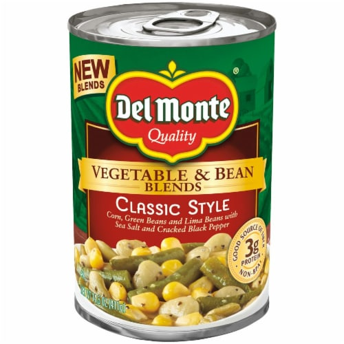 Del Monte Classic Style Vegetable & Bean Blend Perspective: front
