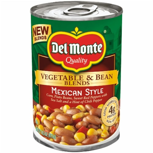 Del Monte Mexican Style Vegetable & Bean Blend Perspective: front