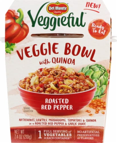 Del Monte Veggieful Roasted Red Pepper Veggie Bowl Perspective: front