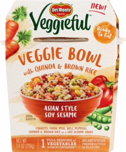 Del Monte Veggieful Asian Style Veggie Bowl Perspective: front