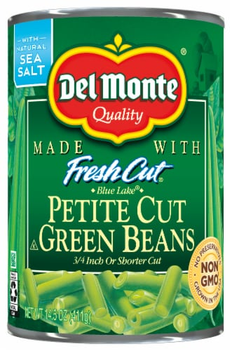 Del Monte Fresh Cut Blue Lake Petite Cut Green Beans Perspective: front