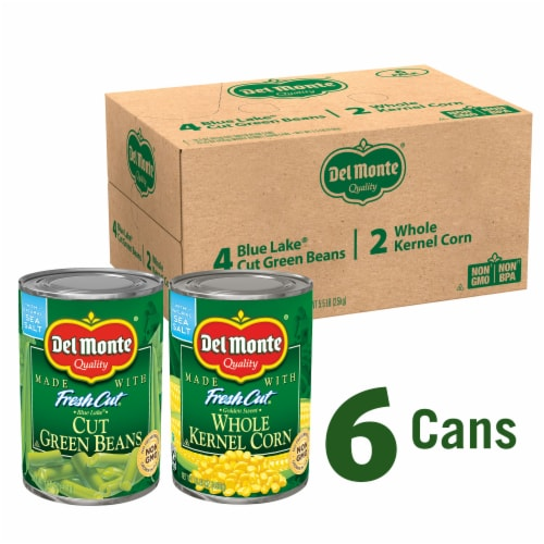Del Monte Fresh Cut Green Beans and Whole Kernel Corn Variety Pack Perspective: front